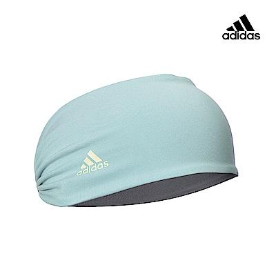Adidas Yoga 運動吸汗防滑頭帶-藍灰