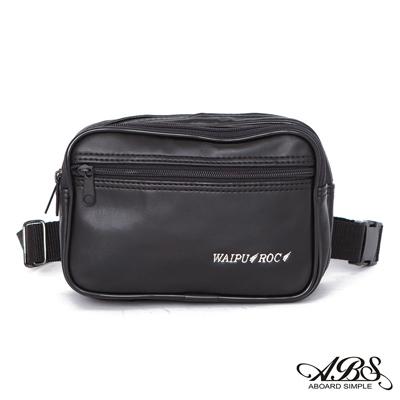 ABS愛貝斯 台灣製造 輕量防水旅行兩用式多層腰包 側背包(黑)719