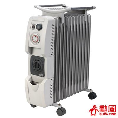 勳風 智能定時恆溫陶瓷葉片式電暖器12片型(HF-2112)附烘衣架