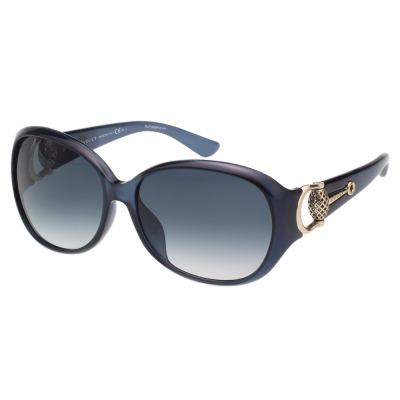 GUCCI- 時尚金球款 太陽眼鏡 (藍色)