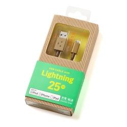 日本cheero阿愣Lightning USB充電傳輸線-25公分