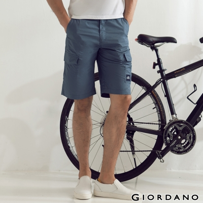 GIORDANO-男裝G-COOL涼感按釦口袋短褲