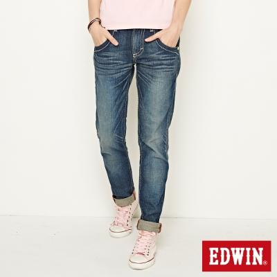 EDWIN 503B.T小花AB牛仔褲-女款(中古藍)