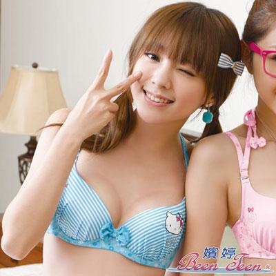 嬪婷-Hello-Kitty海洋風B-C罩杯內衣-KITTY藍