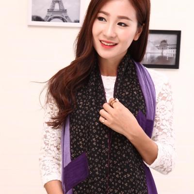 Seoul Show 幸運紫蔓棉質圍巾