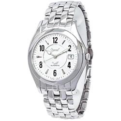 Ogival 愛其華經典質感時尚機械錶-白X銀/35mm