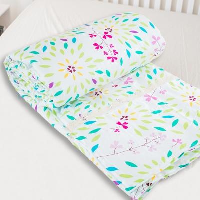 米夢家居-台灣製造-100%精梳純棉兩用被套-萬花筒-單人