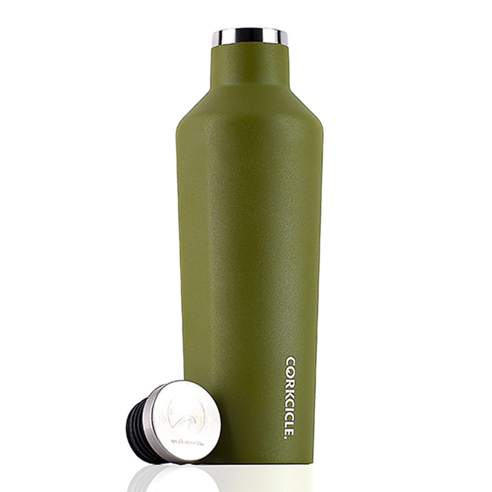 CORKCICLE 酷仕客Waterman戶外系列三層不鏽鋼易口保溫瓶-470ml (橄欖綠)