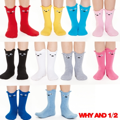 WHY AND 1/2 襪子 中筒襪 經典普普熊表情襪多色可選