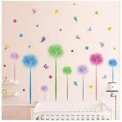時尚壁貼 - 多彩花球