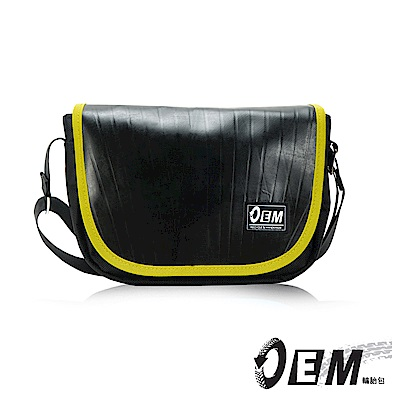 福利品 OEM - 製包工藝革命 低調簡約個性半月型減碳休閒包- 黃色