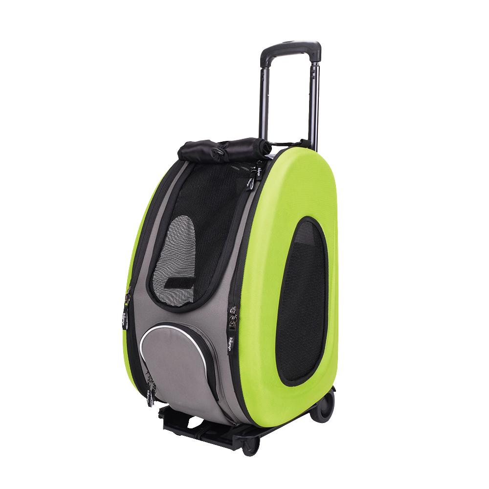 IBIYAYA依比呀呀-五彩繽紛寵物拉桿後背包-綠(FC1008)