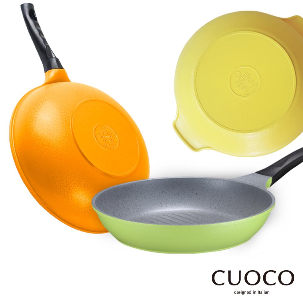 義大利 CUOCO 韓國原裝時尚鈦石輕量炒鍋28cm 牛排鍋28cm 湯鍋28cm