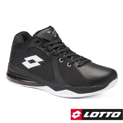 LOTTO 義大利 男 Vortex 旋風 氣墊籃球鞋-黑
