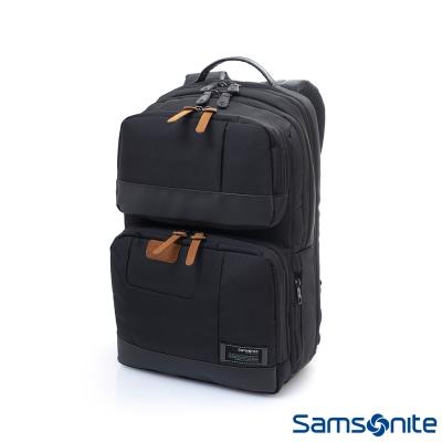 Samsonite新秀麗 Avant極輕盈耐磨時尚筆電後背包(黑)