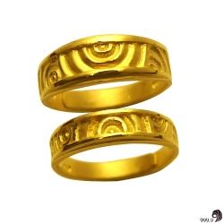 歷代風華-悸動的愛黃金對戒(約2.62錢)