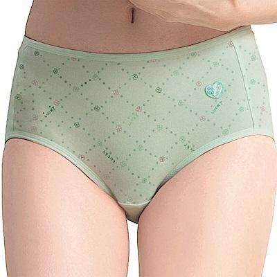 嬪婷-學生系列寶貝棉 M-LL 中腰三角褲(嫩草綠)舒適透氣