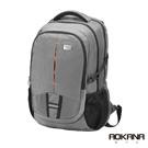 AOKANA奧卡納 輕量防潑水護脊電腦商務後背包(時尚灰)68-093