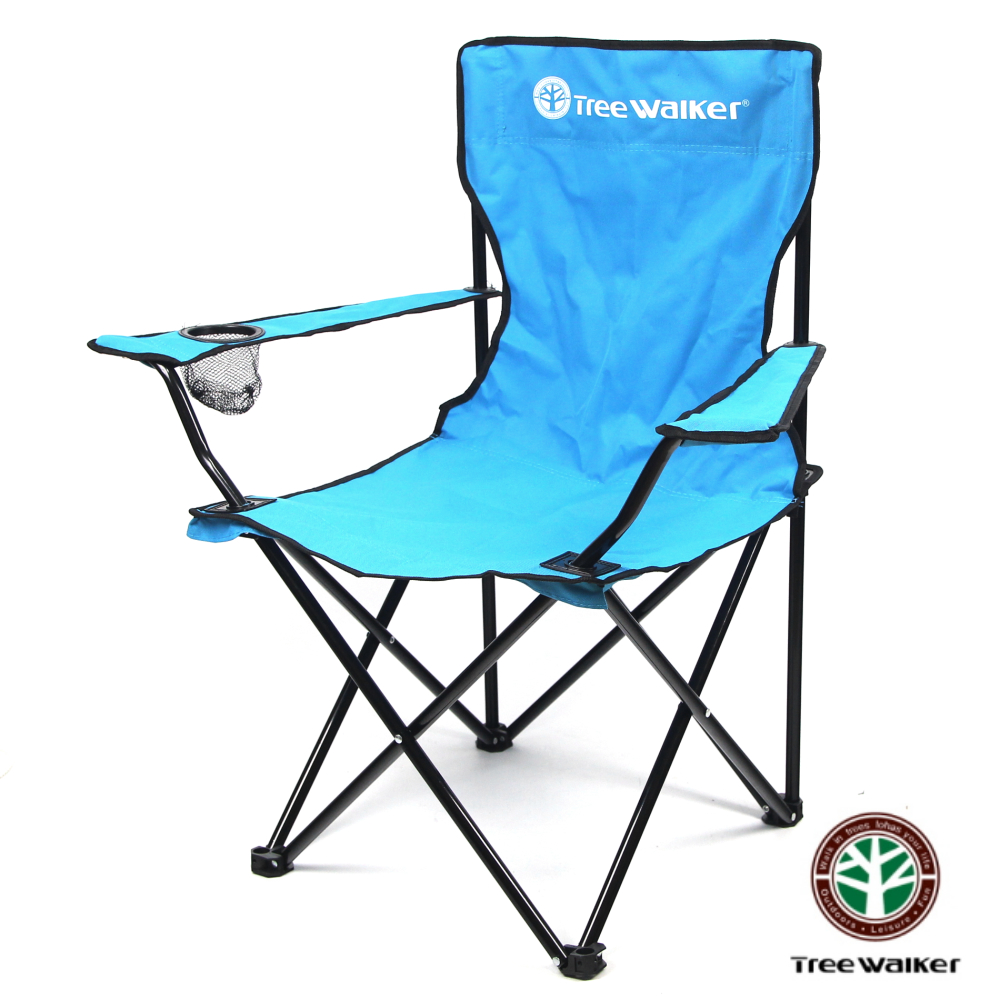 TreeWalker 休閒折疊扶手椅-淡藍