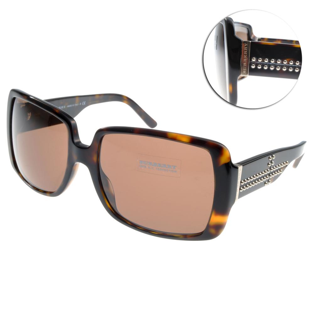 BURBERRY太陽眼鏡 十字鉚釘/黑#BU4095 300273