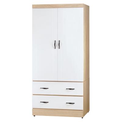 Boden-莉卡2.7尺二門二抽衣櫃-兩色可選-83x57x180cm