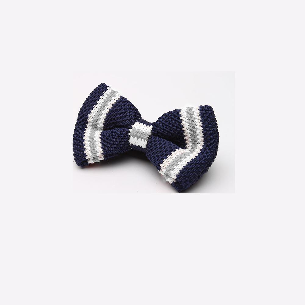 拉福  領結糾糾針織紳士專用領結(藍白)