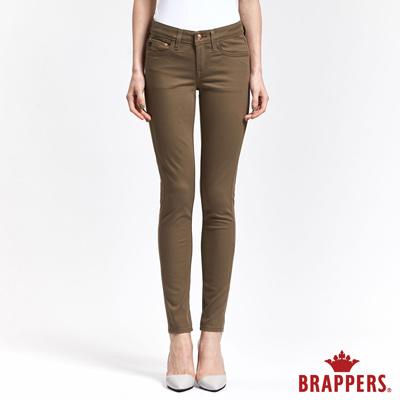 BRAPPERS 女款 LC-Cargo系列-女用彈性素面窄管褲-卡其
