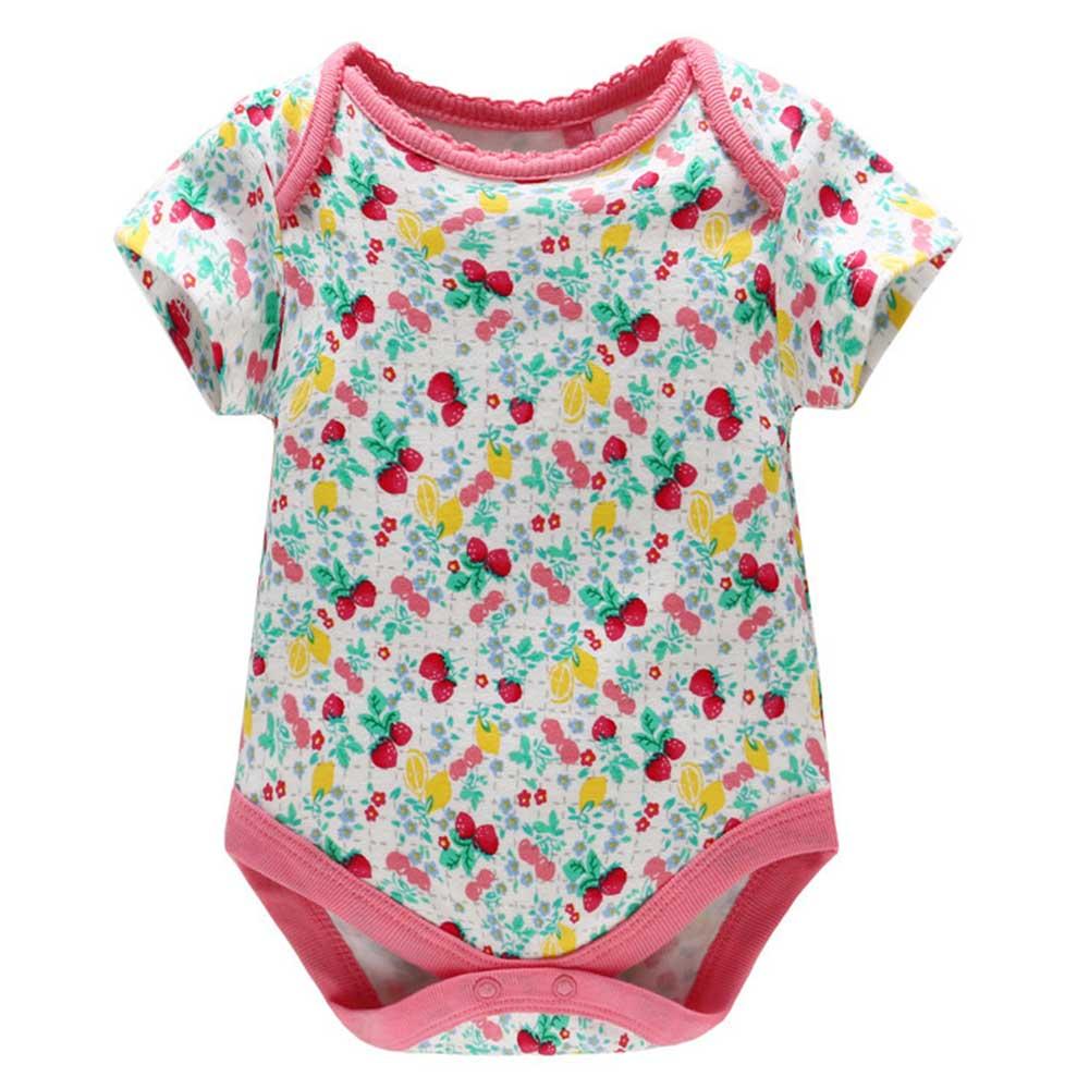 Baby unicorn 滿版草莓短袖包屁衣