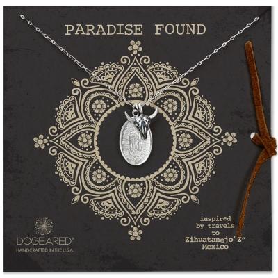 Dogeared paradise found 公牛頭瑪利亞錢幣 雙墜 純銀項鍊 附原廠盒