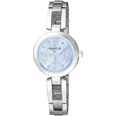 CITIZEN WICCA 甜心寶貝 手環式腕錶(BG3-911-71)-水藍/24mm