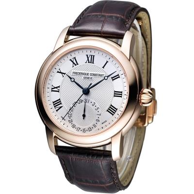 CONSTANT 康斯登 經典羅馬紳士機械腕錶-白x玫瑰金框/42mm
