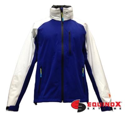 EQUINOX 輕量防水透溼戶外運動風衣-男款藍白