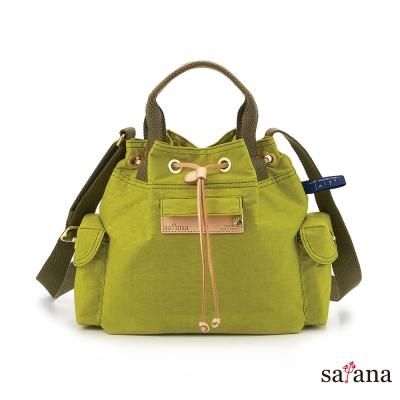 satana - Mini抽繩水桶包 - 檸檬香茅