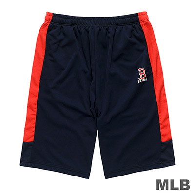 MLB-波士頓紅襪隊LOGO印花快排短褲-深藍 (男)