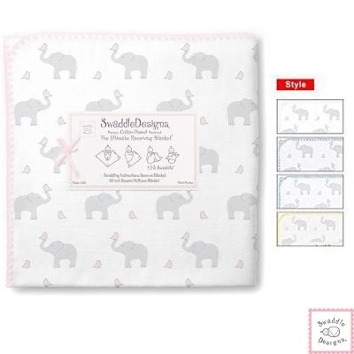 Swaddle Designs 法蘭棉絨多用途嬰兒包巾-大象 款