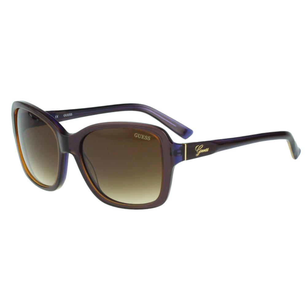 GUESS-時尚太陽眼鏡(藕芋色)