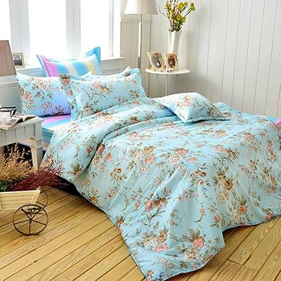 Grace Life 秘密香氛 精梳純棉雙人涼被床包四件組