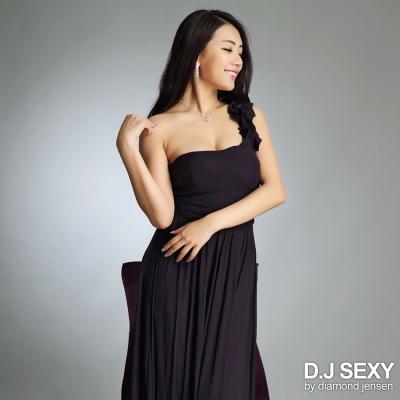 單肩荷葉波浪網紗長禮服-D-J-SEXY