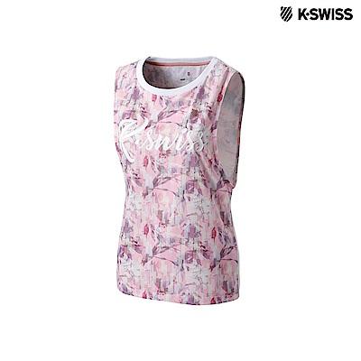 K-Swiss Sleeveless T-Shirts運動背心-女-粉紅