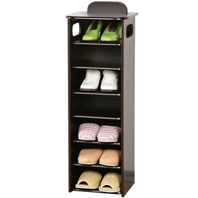 Homelike 新歐風七層置物鞋櫃-胡桃色