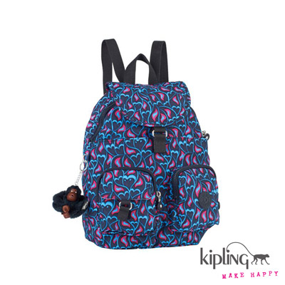 Kipling-後背包-火鳳凰熱情印花
