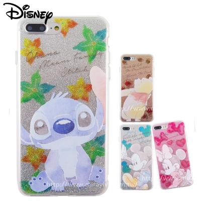 Disney迪士尼iPhone 8/7 Plus(5.5吋)閃粉雙料保護殼-淡彩...