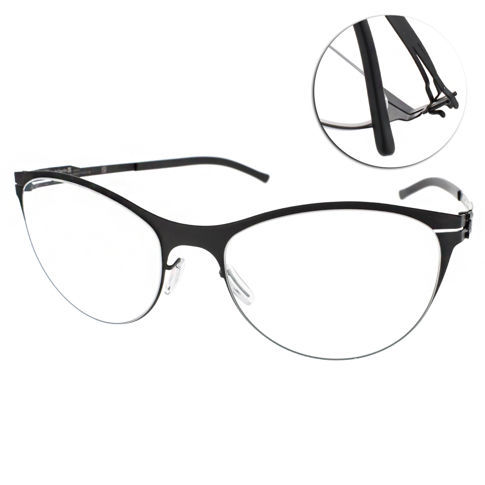 ic!berlin眼鏡 薄鋼代表作/黑#LUCIE H. BLACK