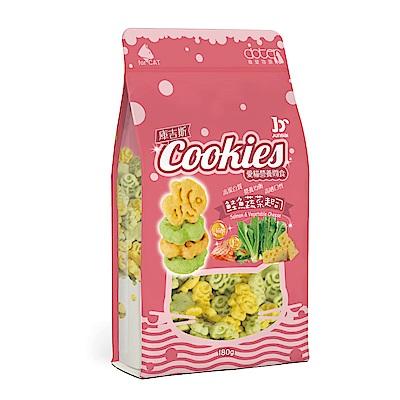 寵愛物語-庫吉斯 愛貓營養間食 貓用魚形餅 鮭魚+蔬菜+起士風味180g(3包組)