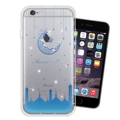 WT iPhone6s / 6 Plus 5.5吋 奧地利水晶彩繪空壓手機殼(月...