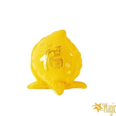 【Magic魔法金】仙桃( 0.6錢) 立體黃金 (木盒精裝)