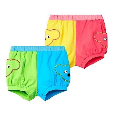 WHYAND 1/2 mini 普普熊拼色棉質萊卡短褲 1Y~4Y 多色可選