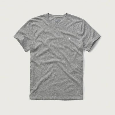 A&F 經典電繡麋鹿圓領短袖T恤-灰色 AF Abercrombie