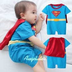 baby童衣 超人披風造型短袖連身衣 32002