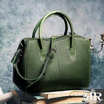 2R 荔紋牛皮Browne品味珍妮布朗手提包 輕甜綠